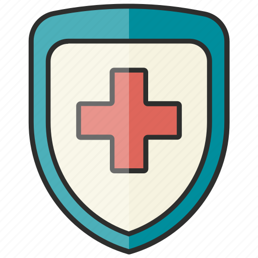 healthcare, medical, shield icon