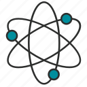 atom, chemistry, education, experiment, laboratory, physics, science icon
