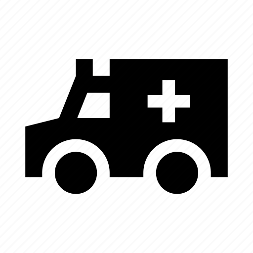 ambulance, auto, car, truck, van icon