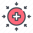 ambulance, cross, expense, healthcare, medical, medicine, red