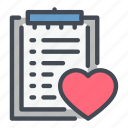 clipboard, hear, info, information, list, medical icon