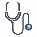 diagnosis, doctor, healthcare, medical, stethoscope icon