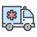ambulance, emergency, healthcare, hospital, medical, medicine, van icon