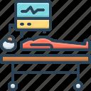 hospital, life, machine, patient, support, treatment, ventilation icon