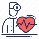 doctor, health care, heart rate, insurance icon
