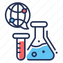 blood, flasks, medical research, test tube icon