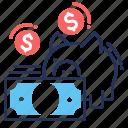 deposit insurance, money, piggy bank, savings icon