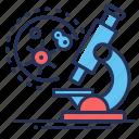 bacteria, laboratory, microscope, virus