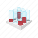 blood, cartoon, health, laboratory, sample, test, tube icon