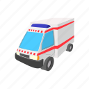 aid, ambulance, cartoon, health, hospital, medical, medicine icon