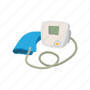 cartoon, equipment, healthcare, hospital, hypertensive, tonometer icon
