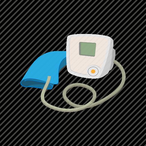 cartoon, equipment, healthcare, hospital, hypertensive, tonometer icon