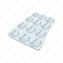 cartoon, drug, health, medical, pharmaceutical, pill, tablet icon