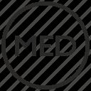 border, label, medicine, round icon