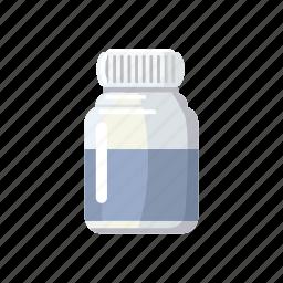 bottle, capsule, cartoon, dose, medical, medicine, plastic icon