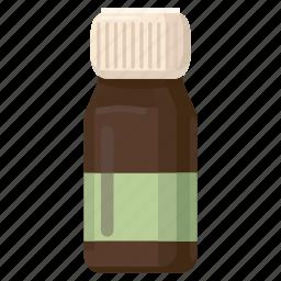 bottle, brown, cartoon, liquid, medical, medicine, pharmacy icon