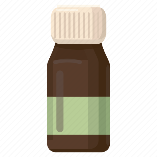 bottle, brown, cartoon, liquid, medical, medicine, pharmacy icon