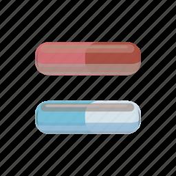 antibiotic, capsule, cartoon, drug, medical, pill, vitamin icon