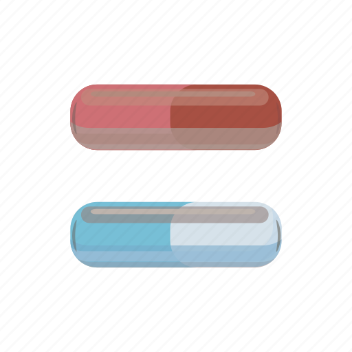 antibiotic, capsule, cartoon, drug, medical, pill, vitamin icon