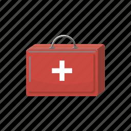 aid, box, cartoon, case, first, hospital, medicine icon