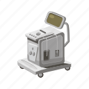 cartoon, equipment, hospital, machine, medical, medicine, ultrasound icon