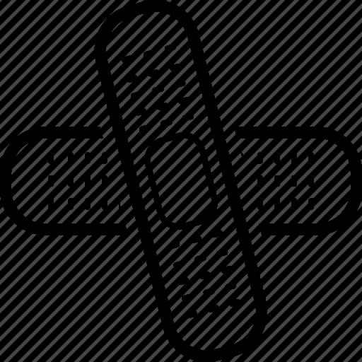 aid, band, bandage, plaster icon