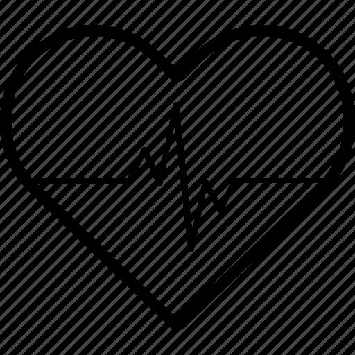 cardiology, diagnosis, ecg, heart icon