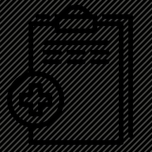 data, doctor, document, hospital, medical, medicine, treatment icon