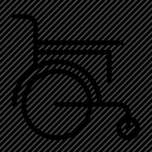 clinic, emergency, hospital, medical, medicine, treatment, wheelchair icon