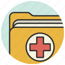 documents, folder, healthcare, hospital, medical, medicine icon