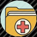 documents, folder, healthcare, hospital, medical, medicine icon