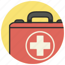 cross, kit, medical, medical kit, suitcase icon