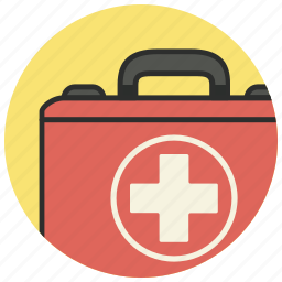 cross, kit, medical, medical kit, suitcase icon