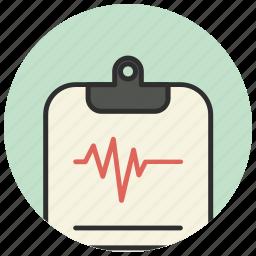 cardiogram, diagnosis, healthcare, medical icon