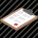 clipboard, medical report, patient card, prescription, rx icon