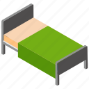 healthcare, hospital bed, hospital room, patient bed icon
