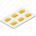 blister pack, capsules, drugs, medication, medicine strip, pills blister icon