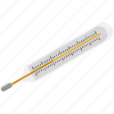 diagnostic, fever, medical thermometer, mercury thermometer, thermometer icon