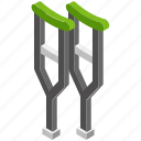 accessibility, crutches, disability, orthopedic, walking support icon