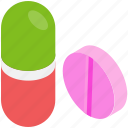 capsules, medication, medicine, pills, tablet icon