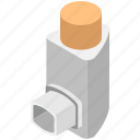 asthma inhaler, inhalation, inhaler, therapy, treatment icon