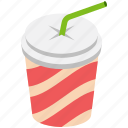 disposable cup, disposable juice, drink, juice, straw cup icon