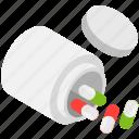 medicine jar, antibiotic, medical treatment, pill bottle, prescription drug icon