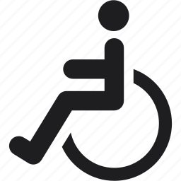 disabled, sign, wheelchair icon