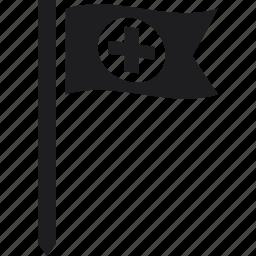 cross, flag, red cross icon