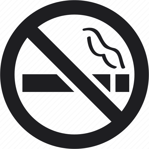 forbidden, no, sign, smoke, smoking, warning icon