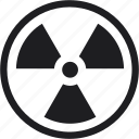 danger, hazard, radioactivity, risk, safety icon