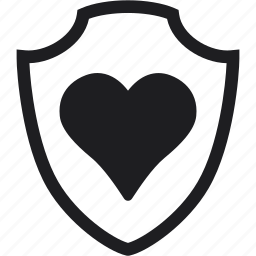 healthcare, heart, medical protection, protect, protection, shield icon