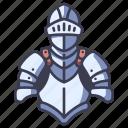 medieval, steel, warrior, armor, knight, suit, war icon