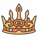 medieval, kingdom, king, crown, queen, prince icon